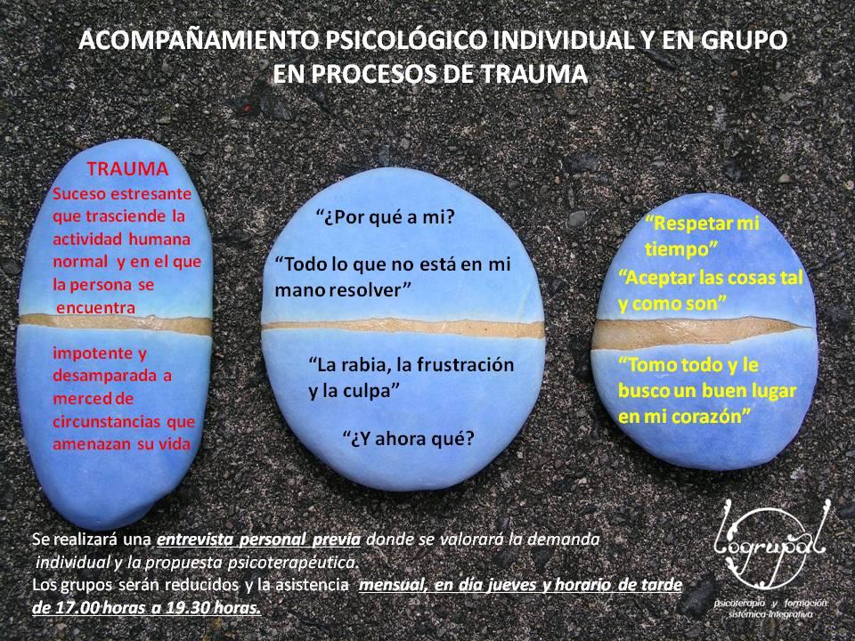 Acompañamiento Psicológico Individual y en Grupo en Procesos de Trauma