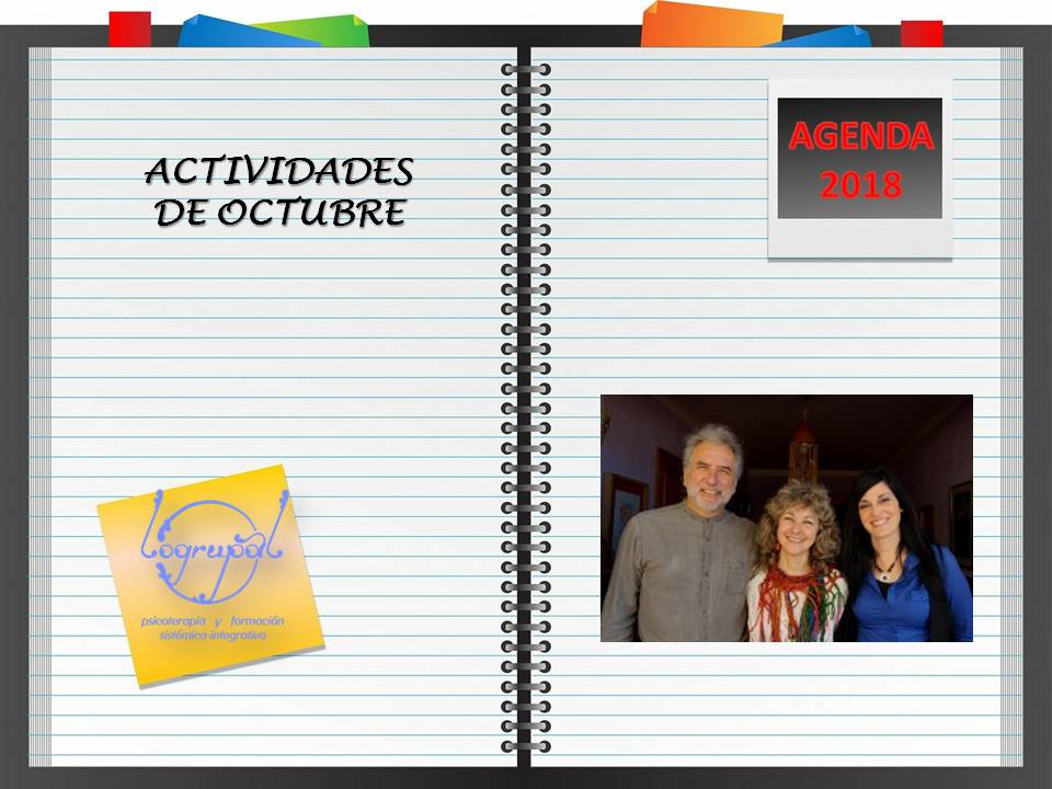 Agenda de actividades de octubre