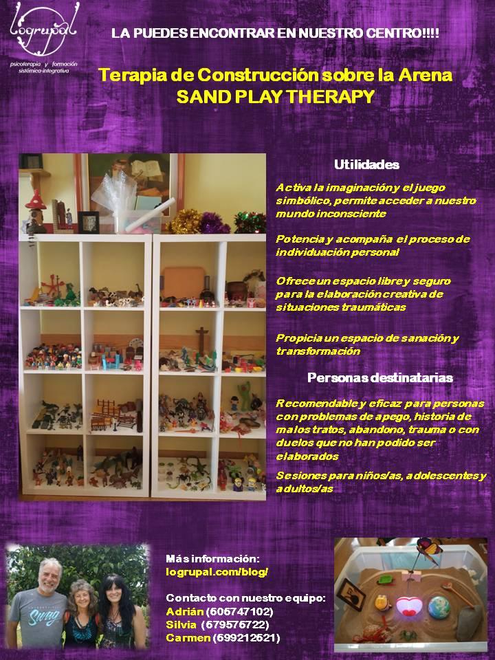 Terapia de construcción sobre la arena (Sand play therapy)