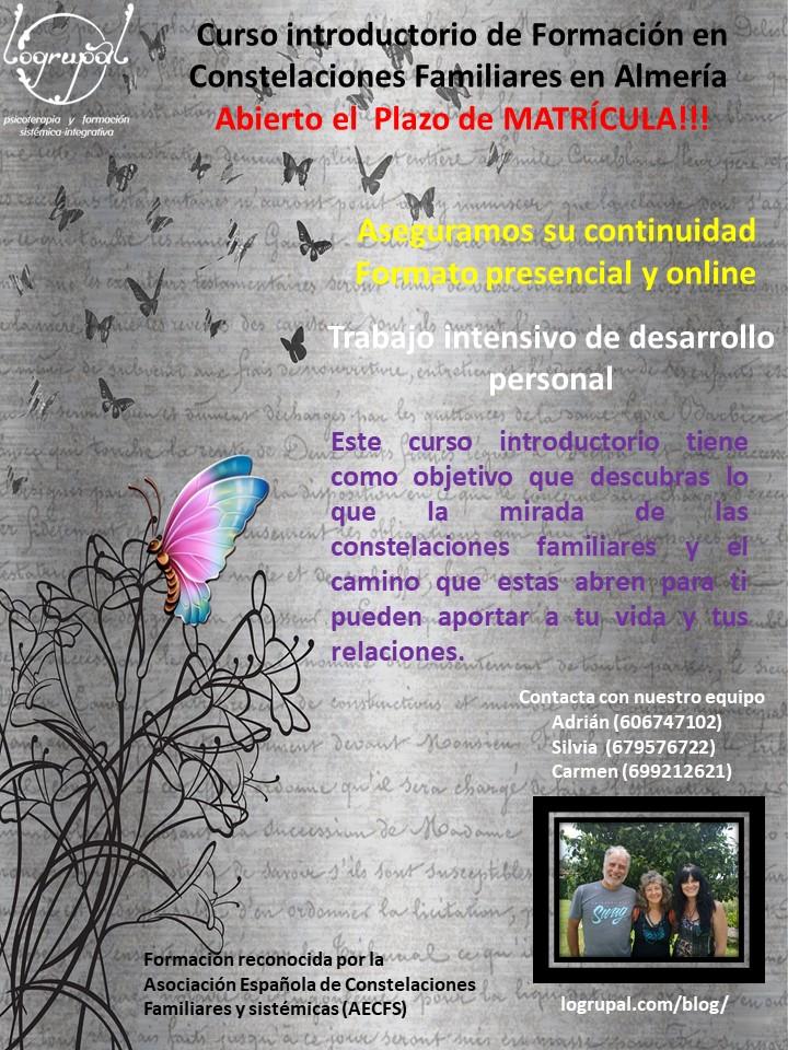 Curso introductorio de Formación en Constelaciones Familiares (Almería matriculación abierta)