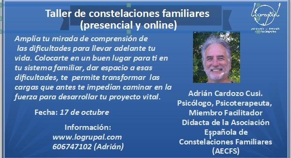 Taller de Constelaciones Familiares en Almería y online (Sábado 17 de octubre)