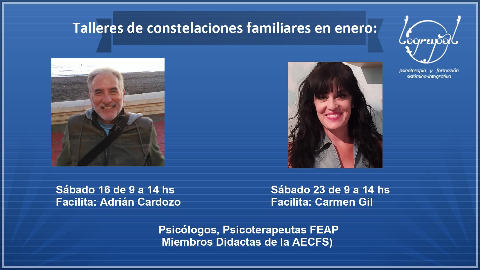 Talleres de Constelaciones Familiares en Almería y online (Sábados 16 y 23 de enero)