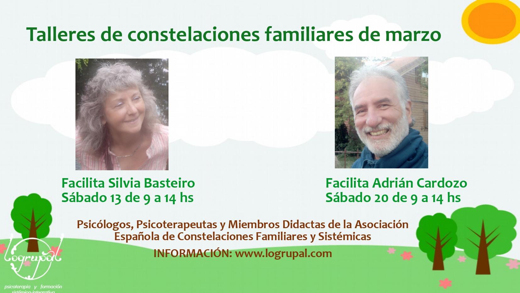 Talleres de constelaciones familiares en Almería (presencial y online) Sábados 13 y 20 de marzo