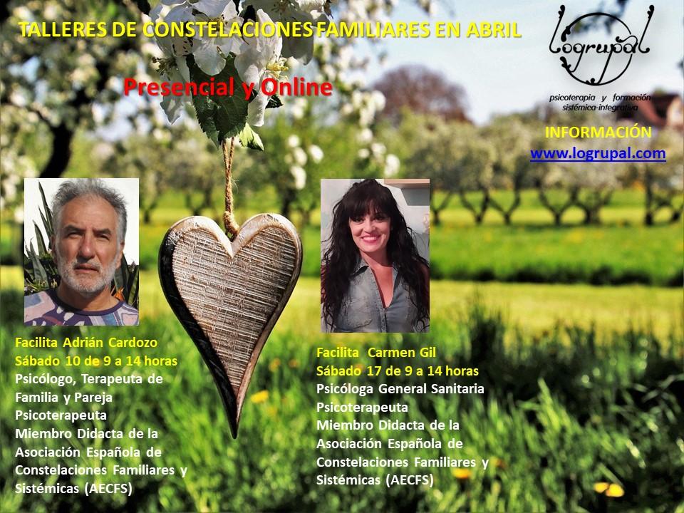 Talleres de Constelaciones Familiares en Almería y online (Sábados 10 y 17 de abril)