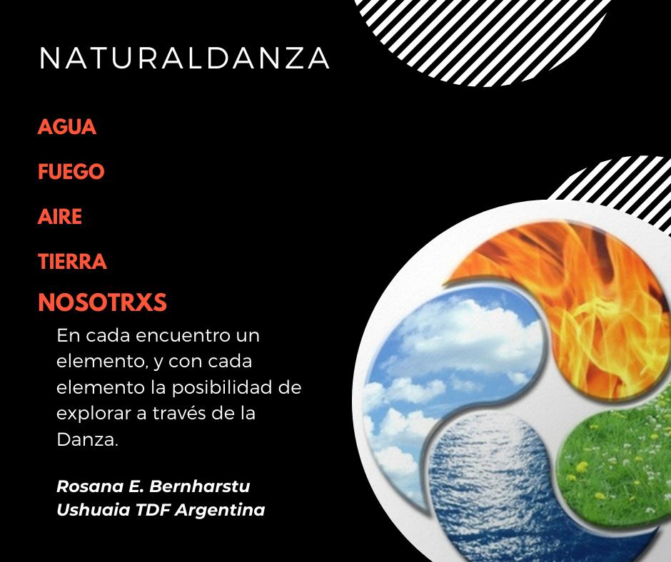 """NATURALDANZA   España – Argentina 2º Curso intensivo 2021 """"Los cuatro elementos y nosotrxs"""" – Taller Online  con Rosana Bernharstu"""
