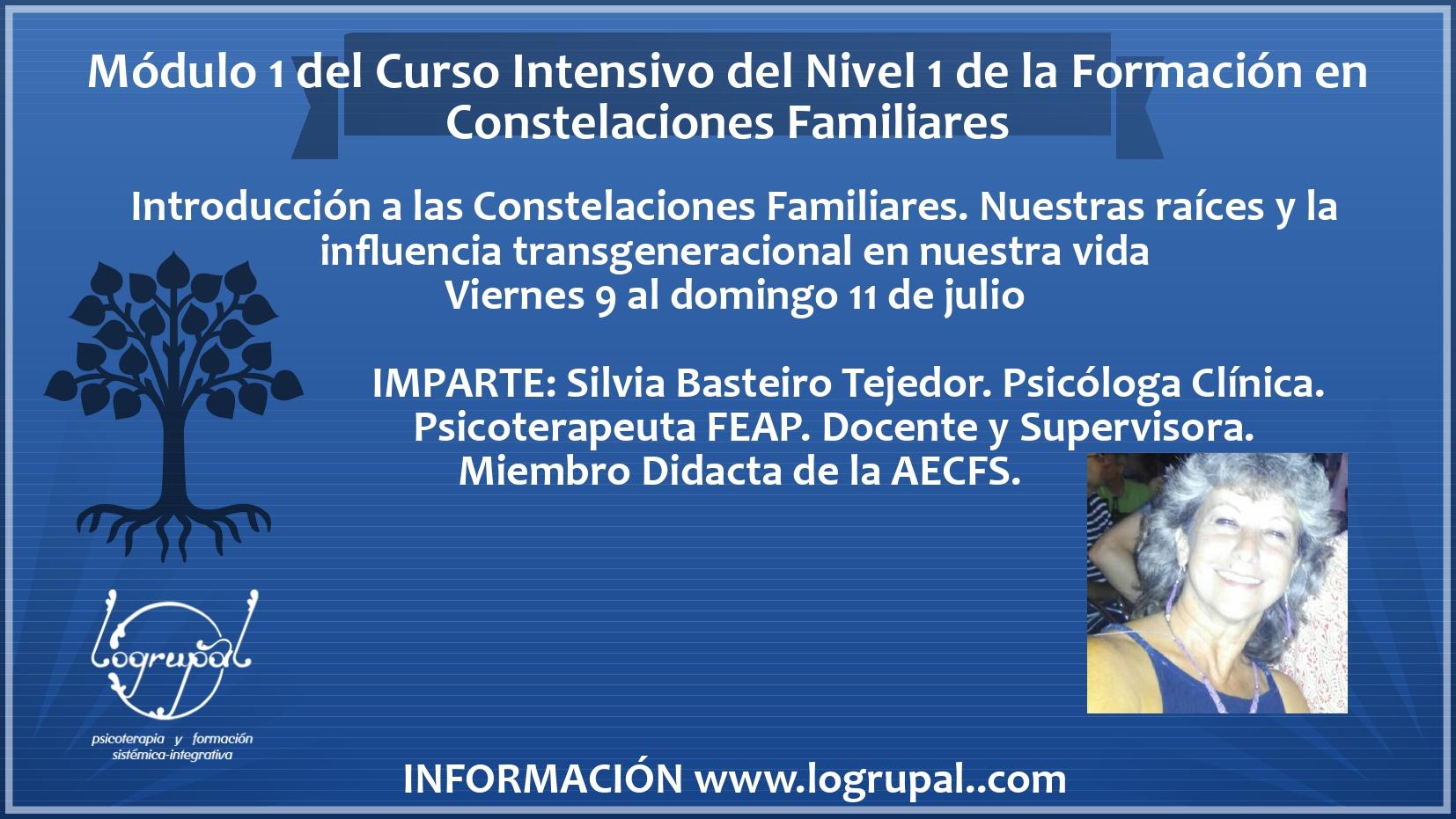 Módulo 1 del Curso intensivo del Nivel 1 de la Formación en Constelaciones Familiares (presencial y online)(9 al 11 de julio)